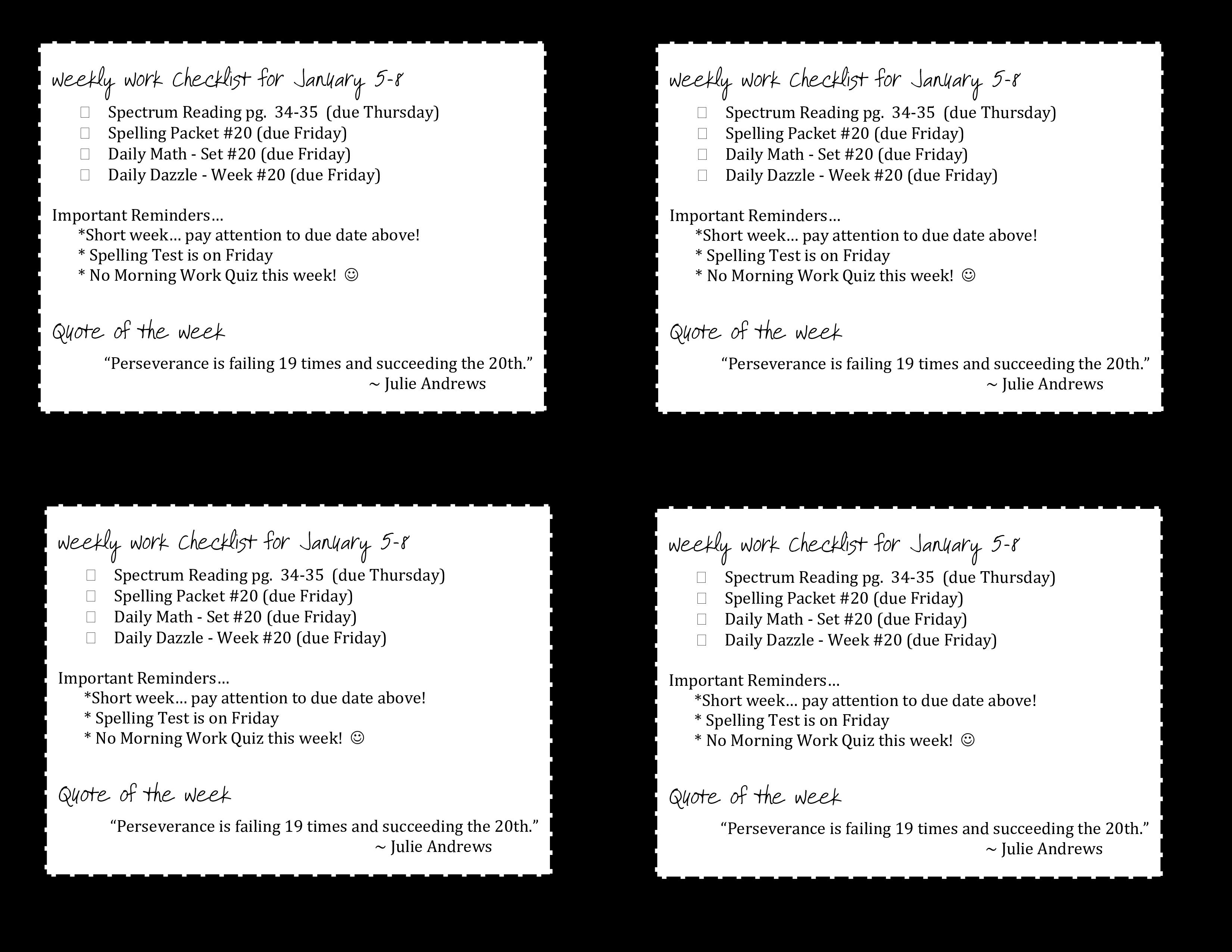 Free weekly work checklist templates at allbusinesstemplates weekly work checklist main image download template maxwellsz