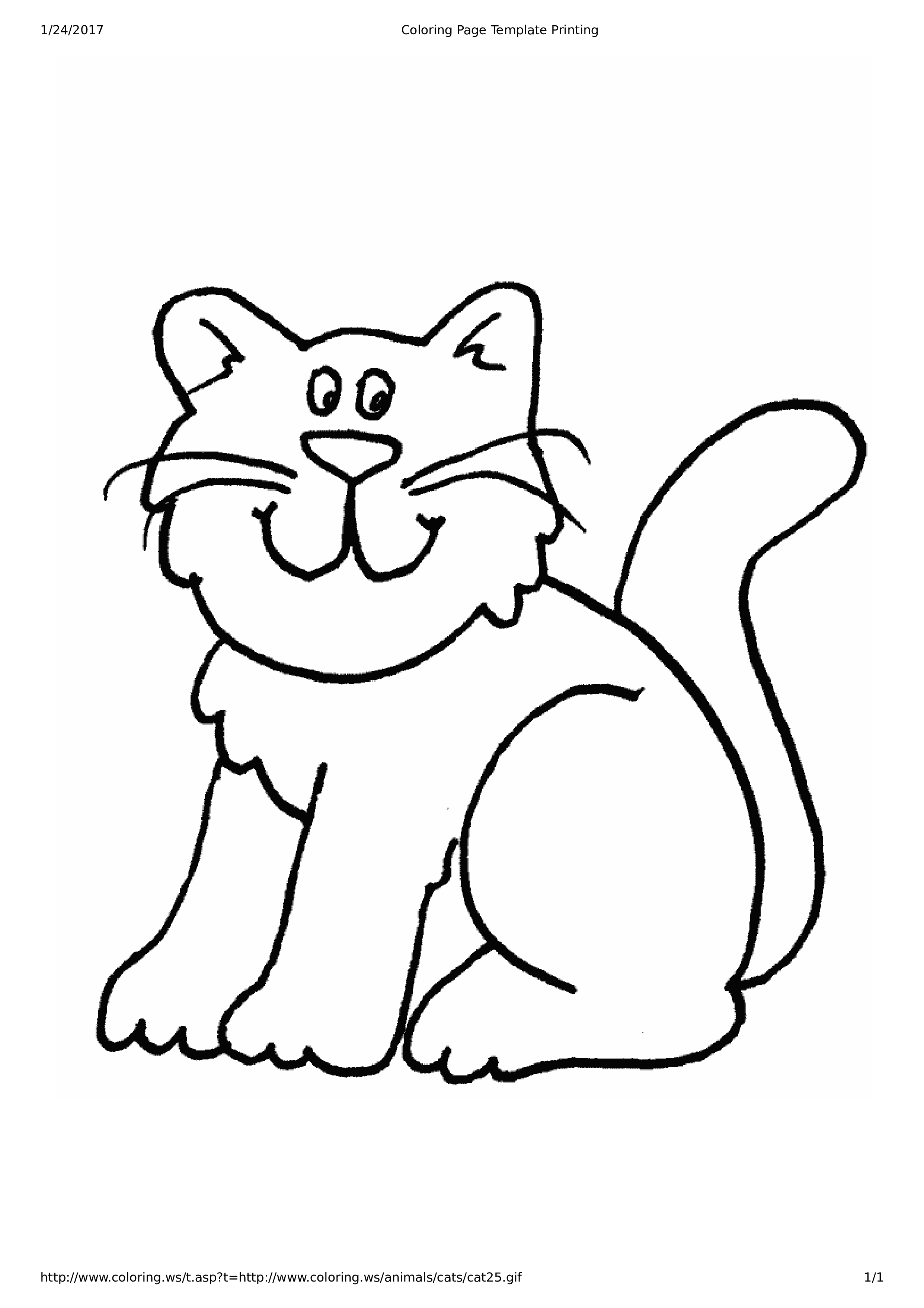 Cat Coloring Page For Kid's main image