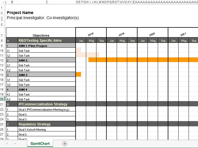 Xls gantt chart template 2