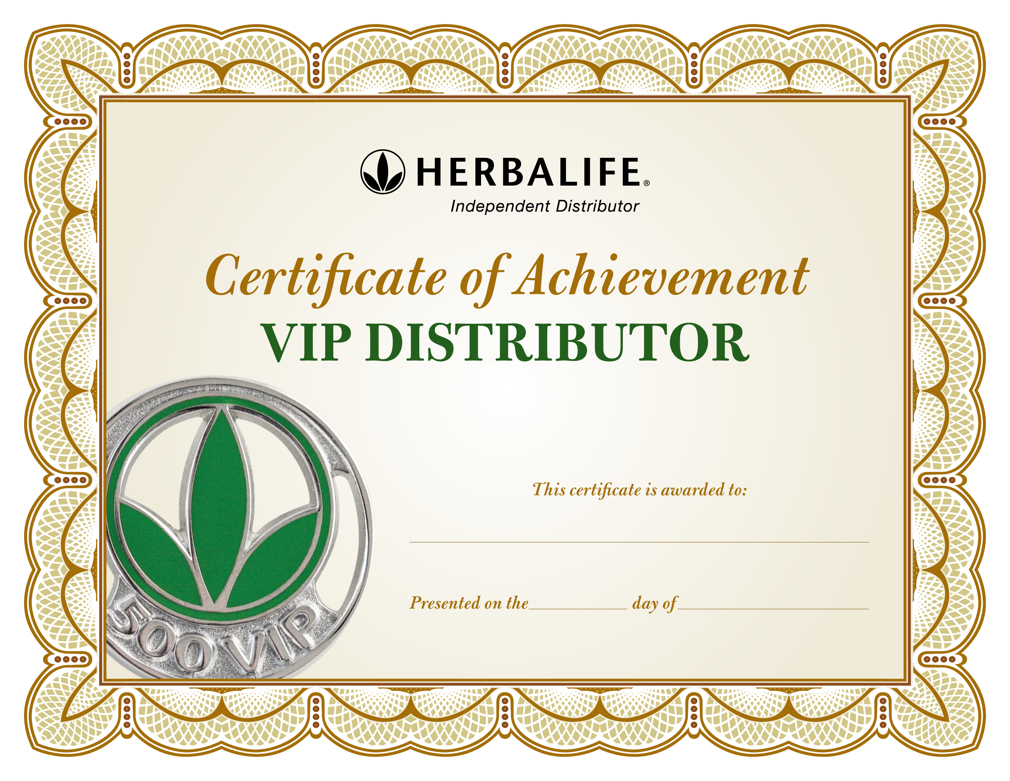 Distributor Certificate Of Achievement main image