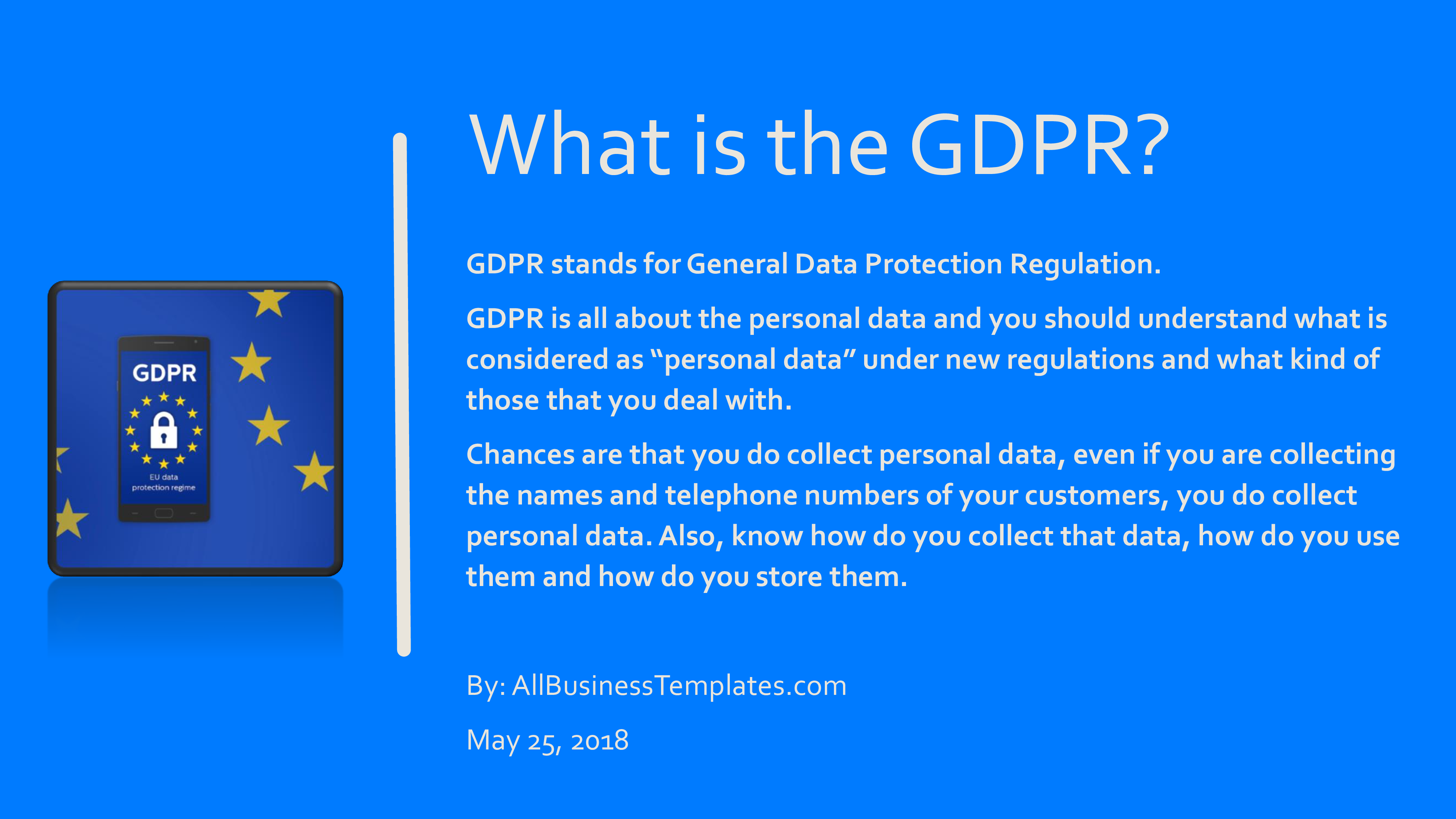 GDPR Introduction Presentation main image