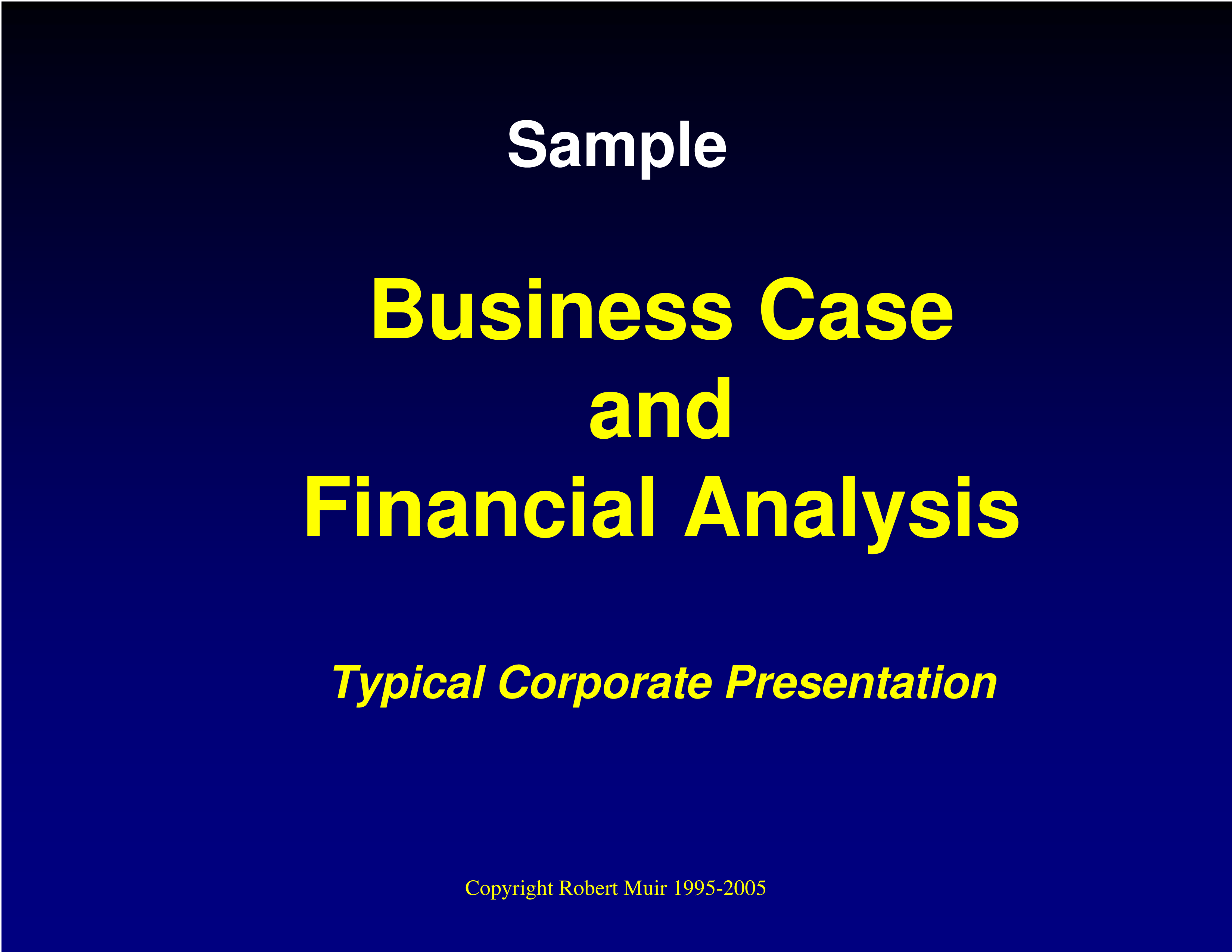 Financial Business Case Analysis main image