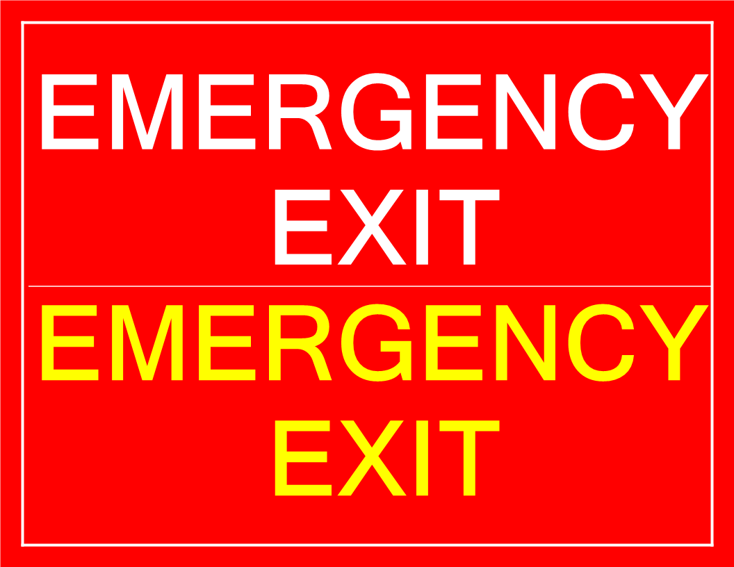 graphic about Printable Exit Signs titled Printable Crisis Exit signal Templates at