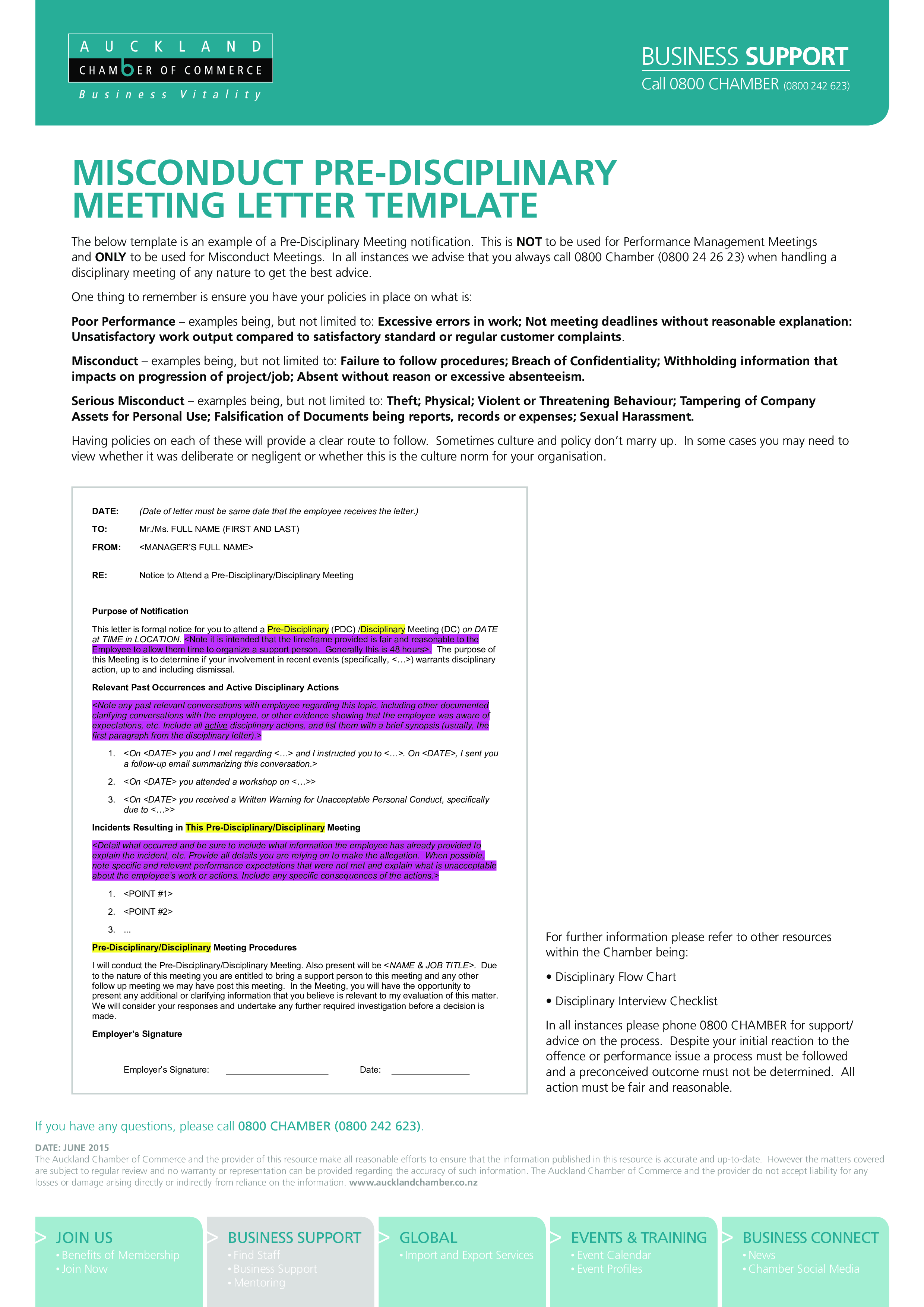 Free disciplinary meeting letter templates at allbusinesstemplates disciplinary meeting letter main image download template spiritdancerdesigns Images