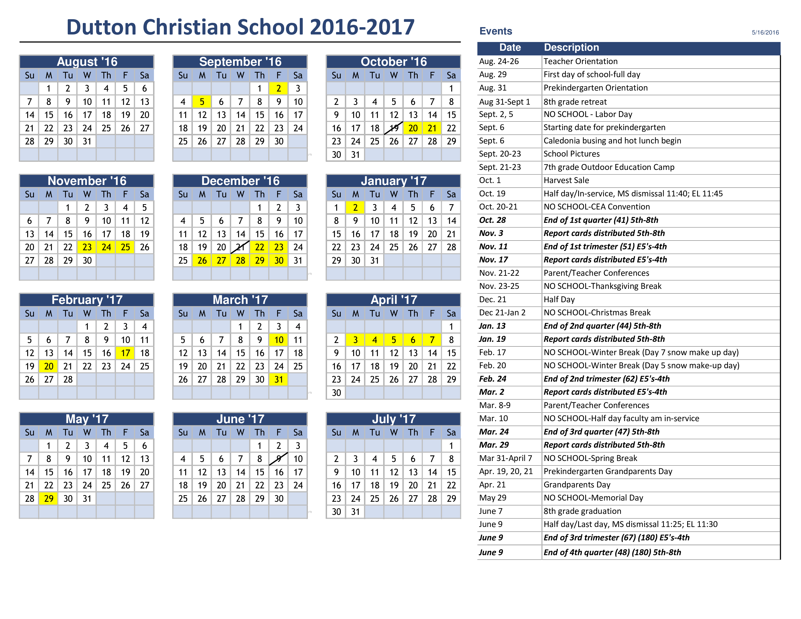 free yearly event calendar templates at