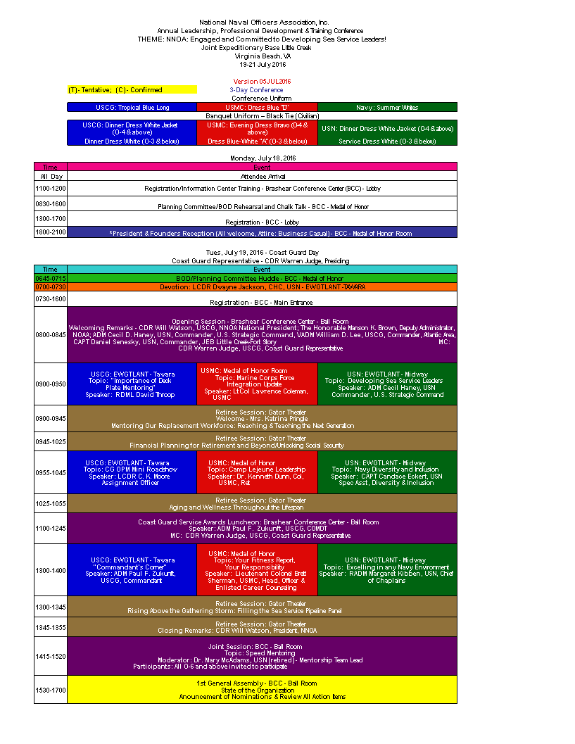 Conference Program Excel template main image