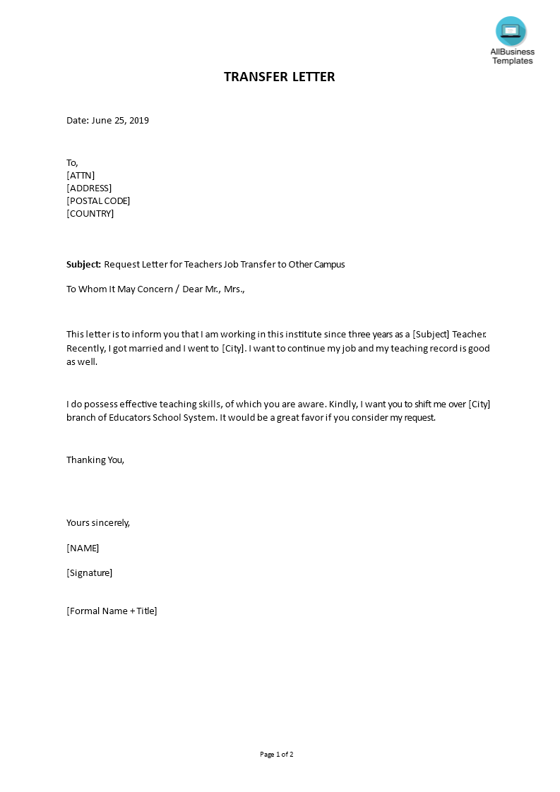 Request Letter for Teachers Job Transfer to Other Campus ... on incident report letter template, change of address letter template, notice of default letter template, requisition letter template, employee benefits letter template, rental agreement letter template, release of information letter template, formal complaint letter template, work order letter template, overpayment letter template, counter offer letter template, loan application letter template, insurance claim letter template, change order letter template, employment application letter template, purchase order letter template, withdrawal letter template, settlement offer letter template, staff letter template, grant application letter template,