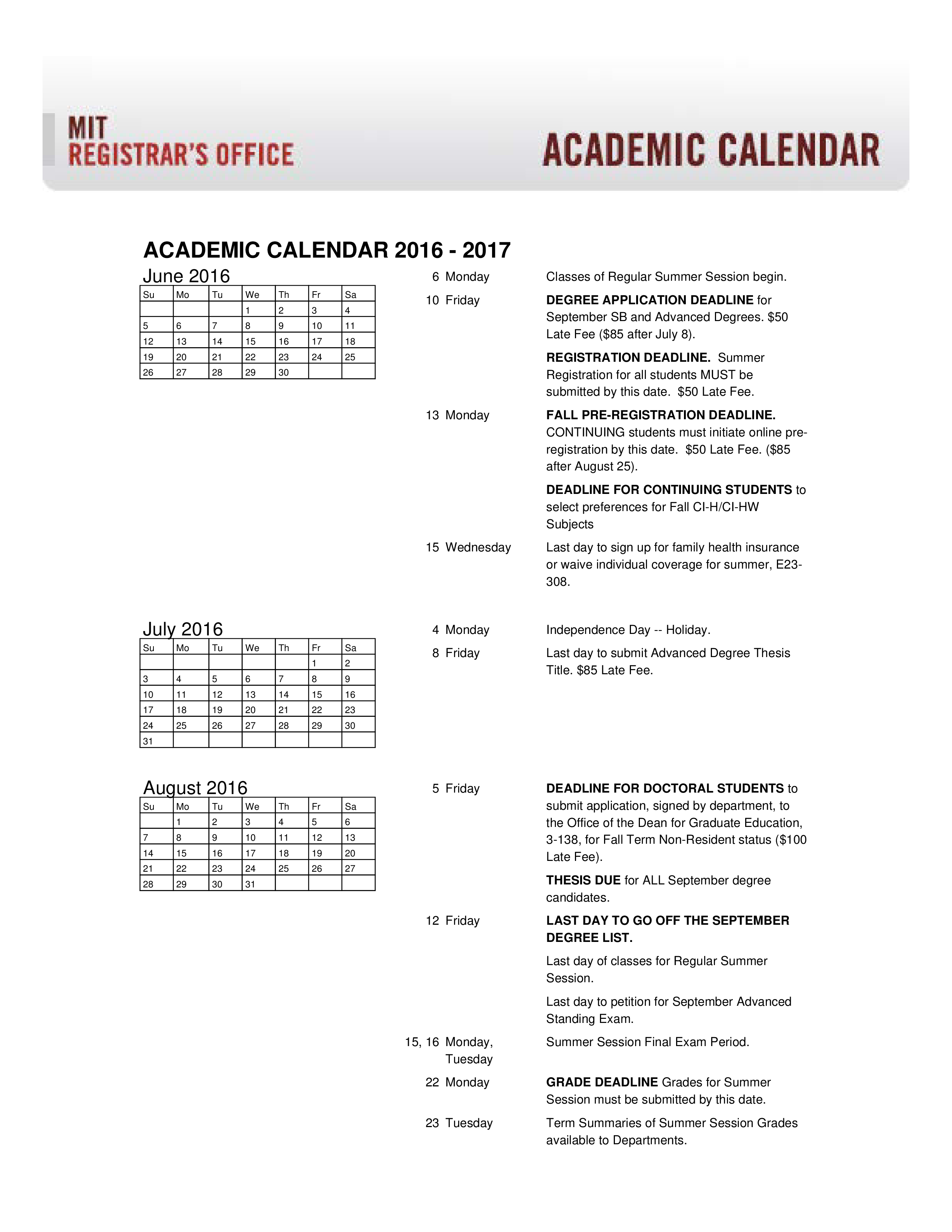 free academic college homework calendar templates at