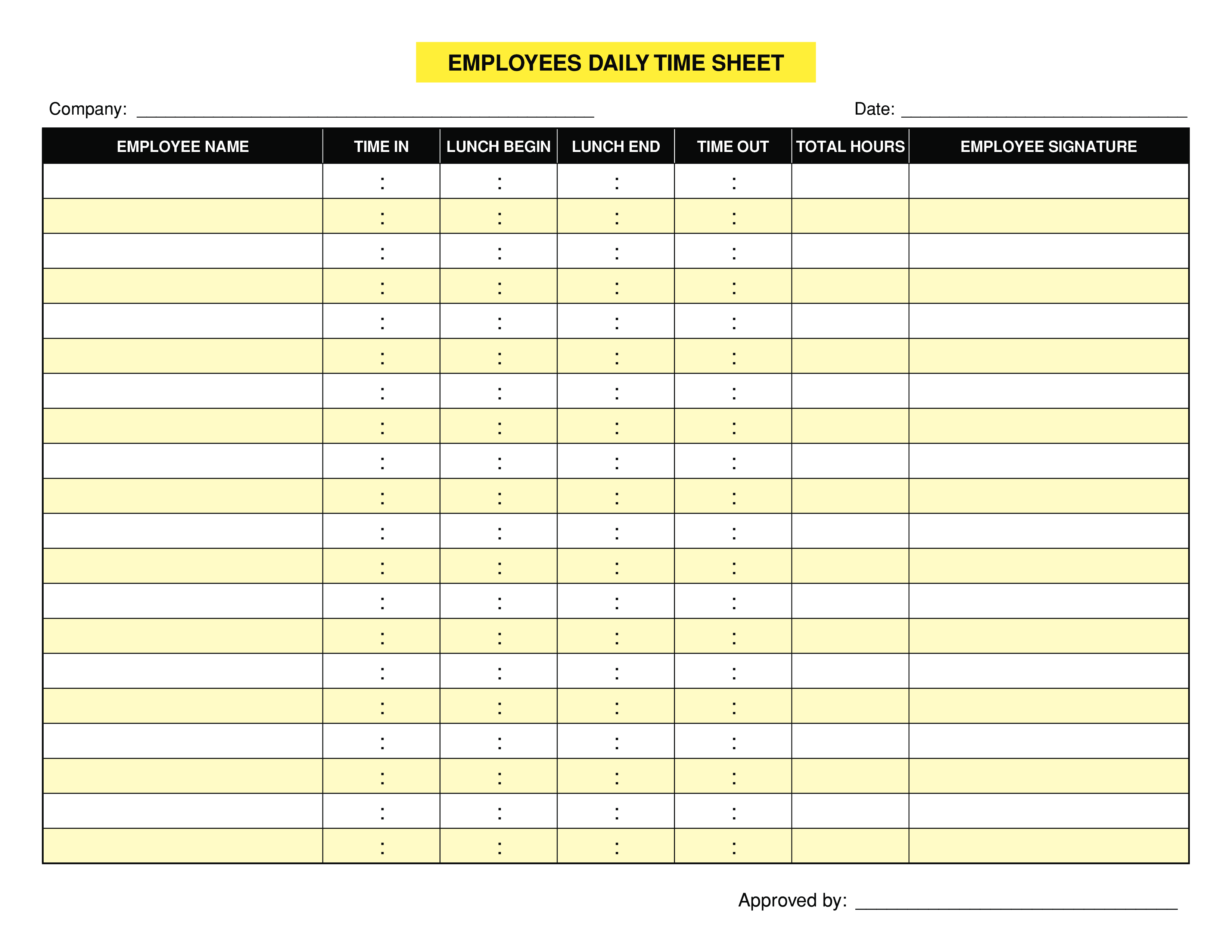 Daily Task Template   Free Employee Daily Task Templates At Allbusinesstemplates Com