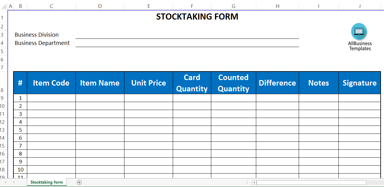 Free stocktaking template excel templates at allbusinesstemplates stocktaking template excel main image cheaphphosting Image collections