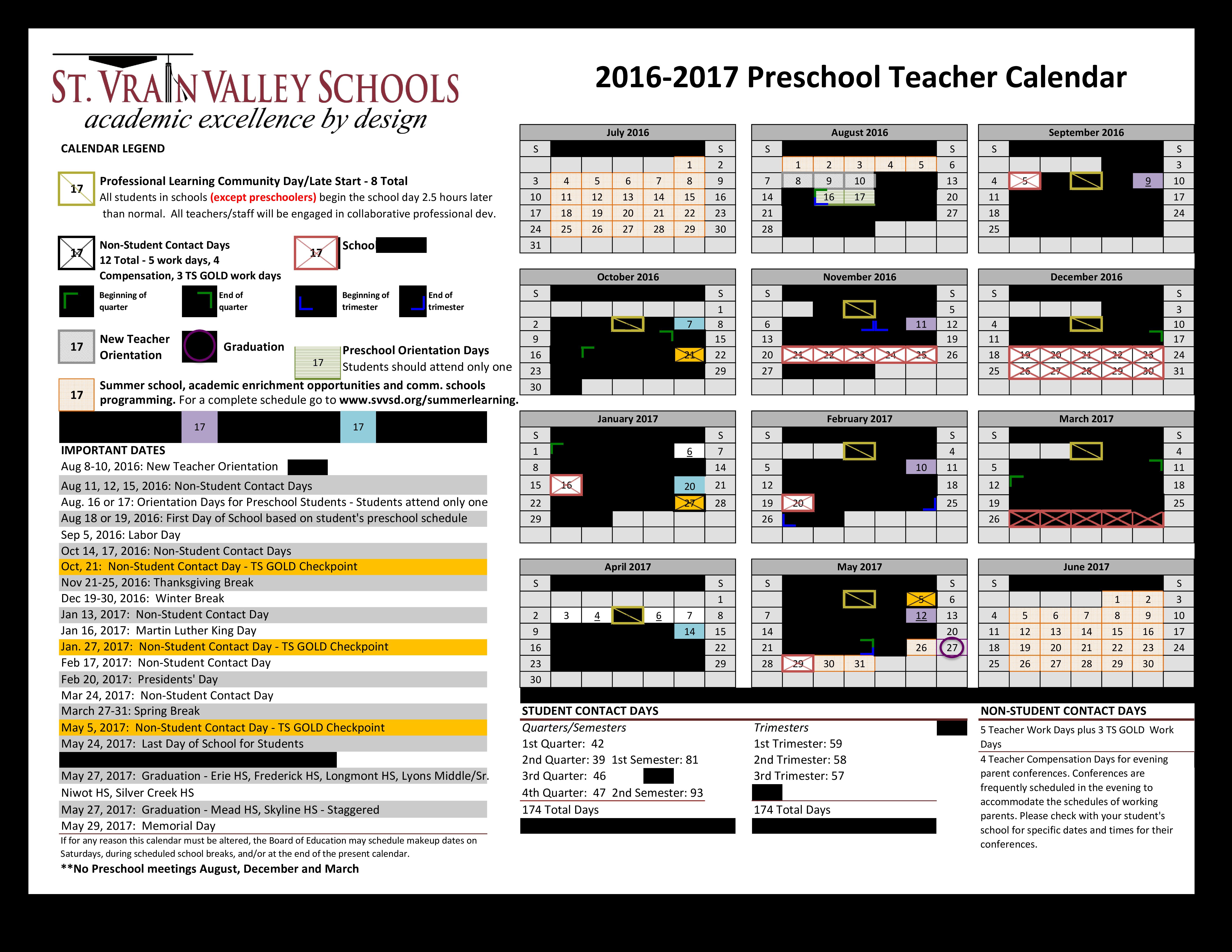 Free Preschool Teacher Calendar Templates At Allbusinesstemplates
