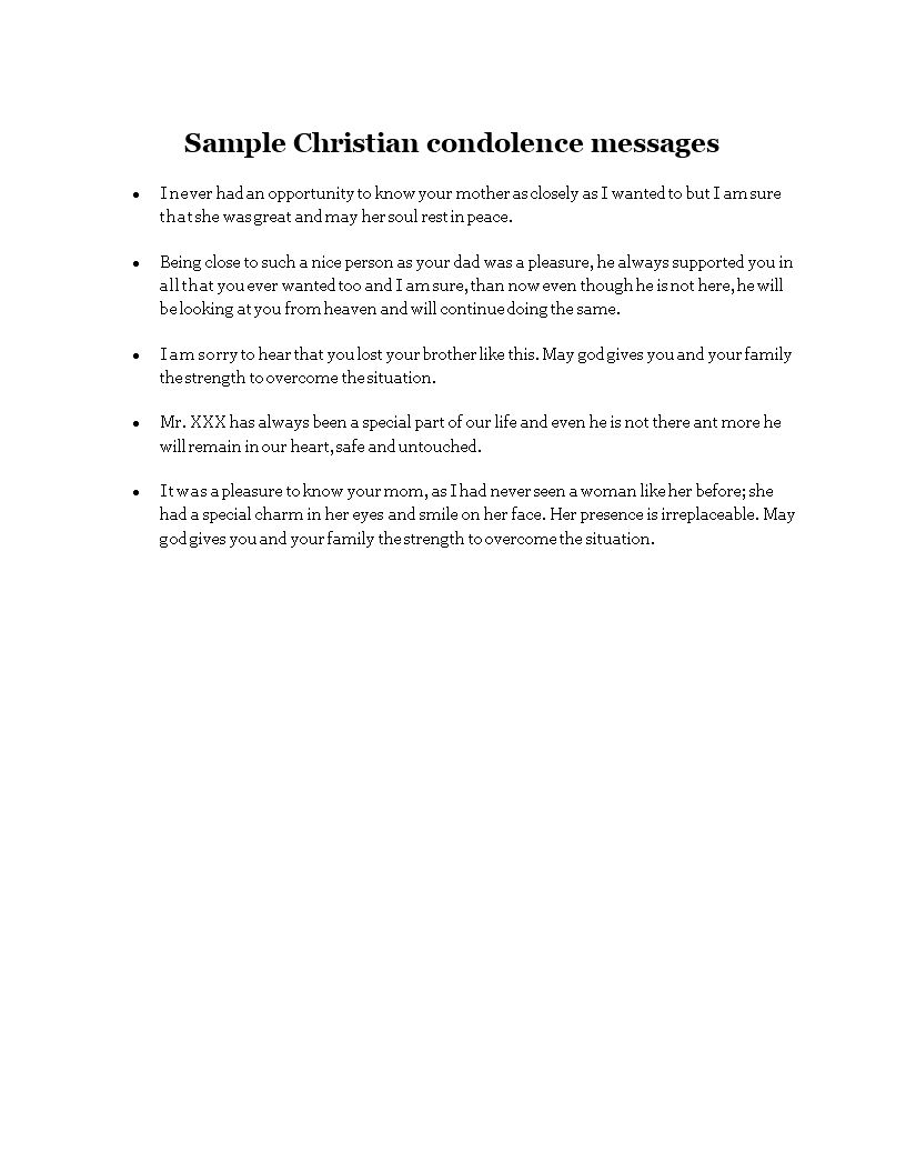 free sample christian condolence messages templates at