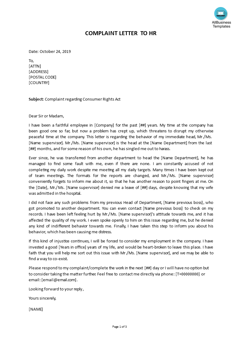 How to write a work complaint letter art school college application essay