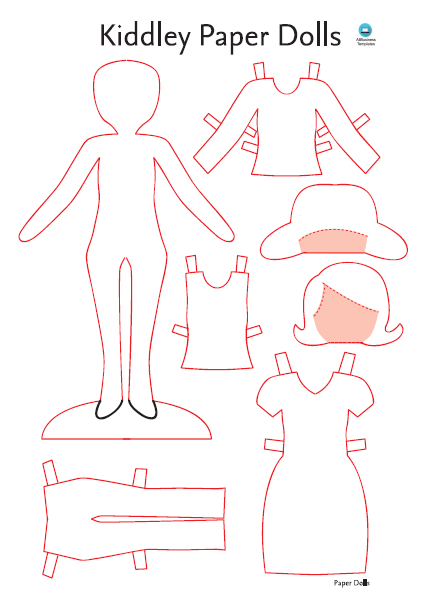 Paper Doll Dress Template Templates At Allbusinesstemplates