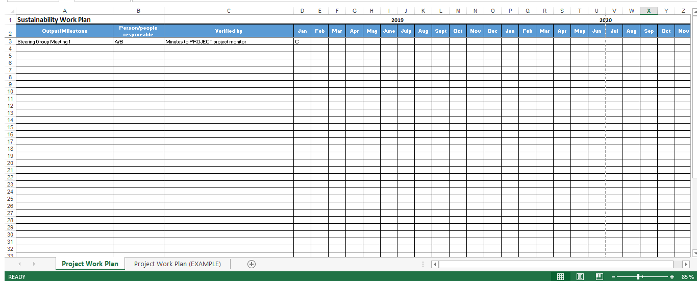 Project Work Plan in Excel main image