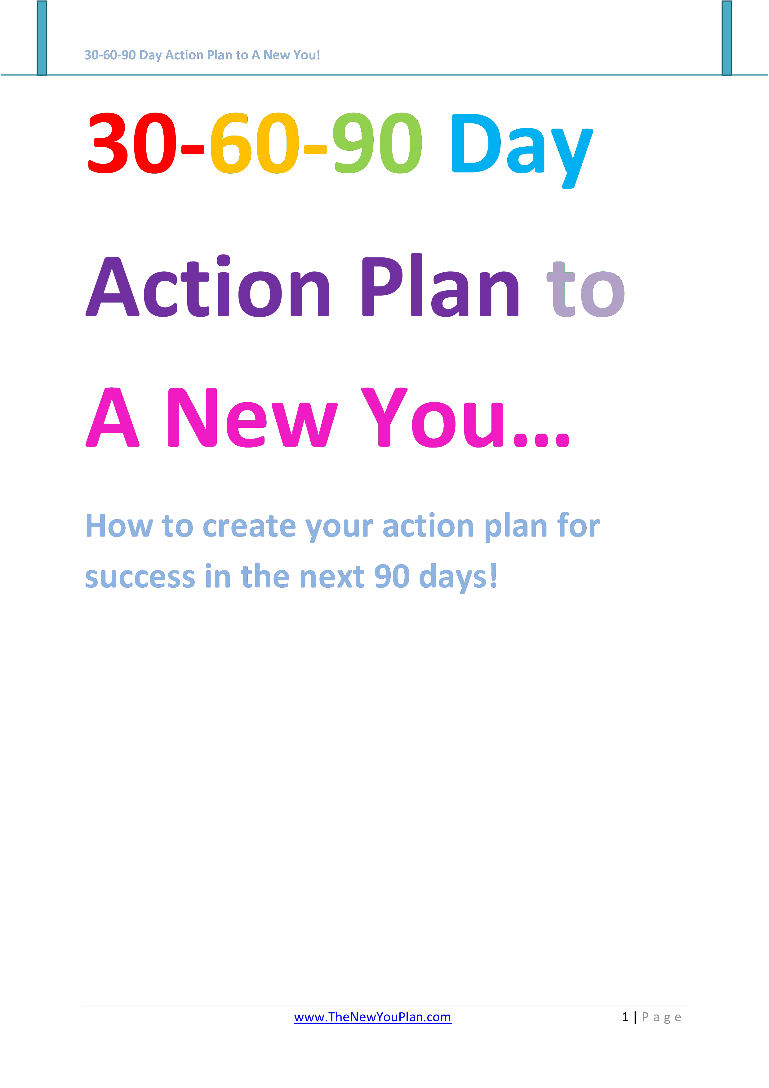 90 Day Action Plan Template from www.allbusinesstemplates.com