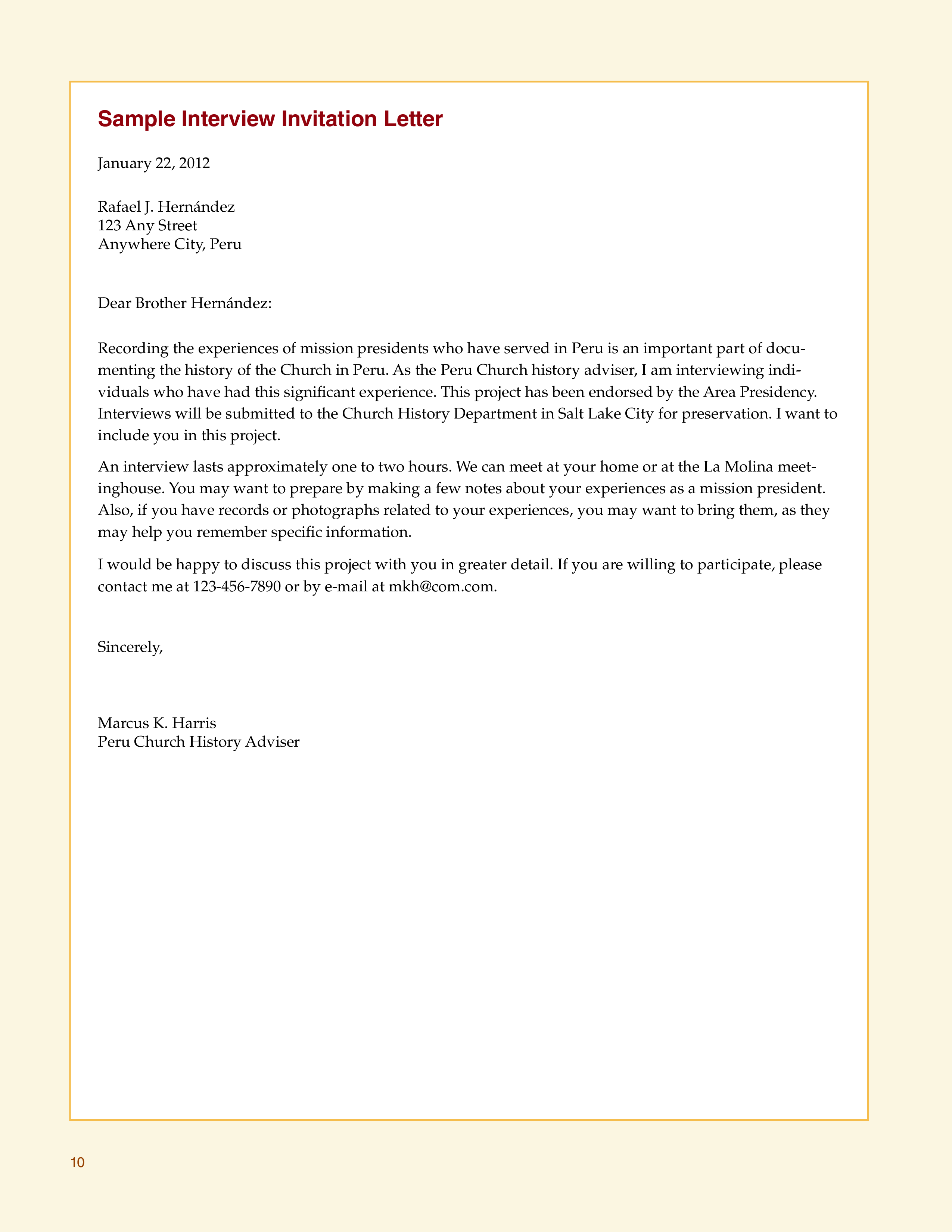 Free Interview Invitation Letter Templates At Allbusinesstemplates