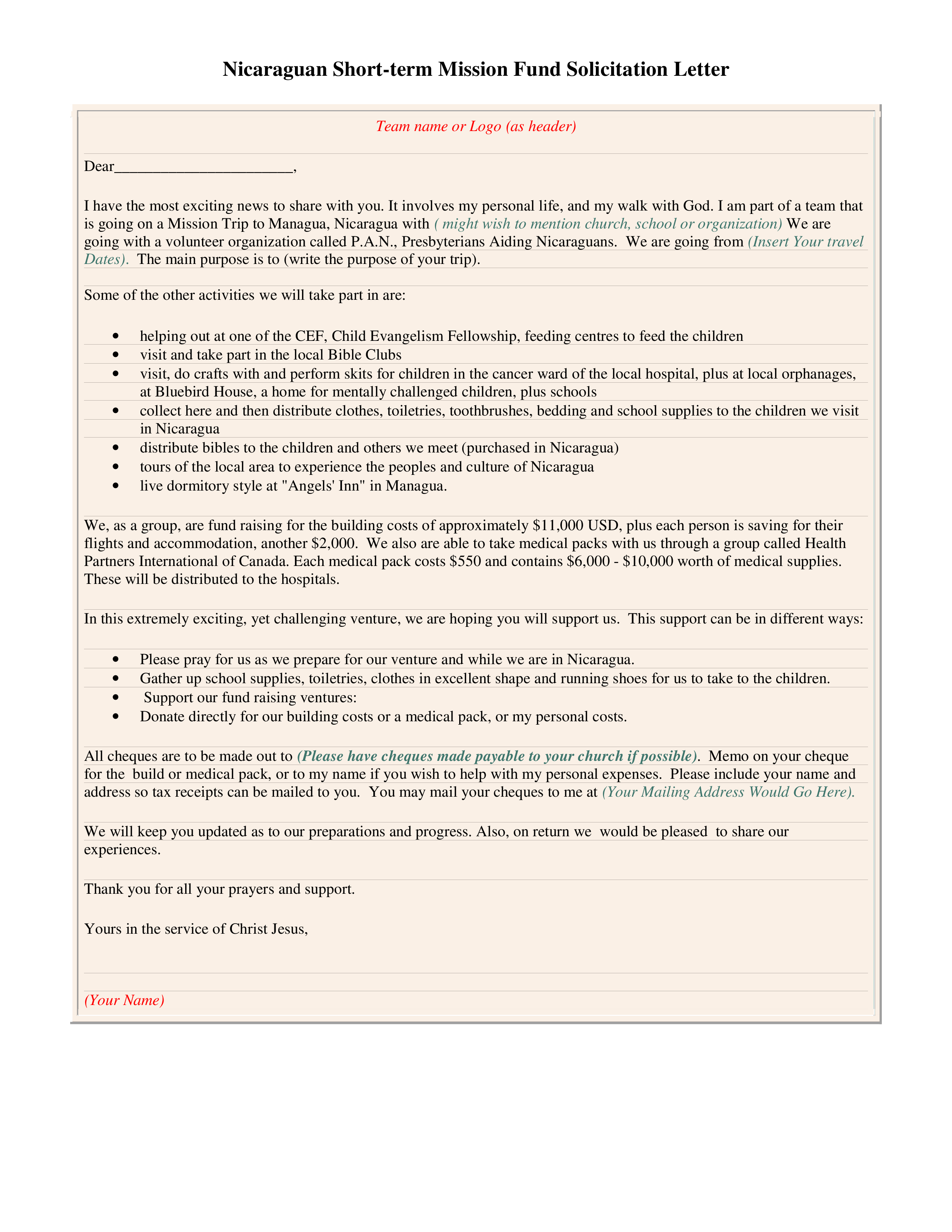Free fund solicitation letter templates at allbusinesstemplates fund solicitation letter main image thecheapjerseys Choice Image