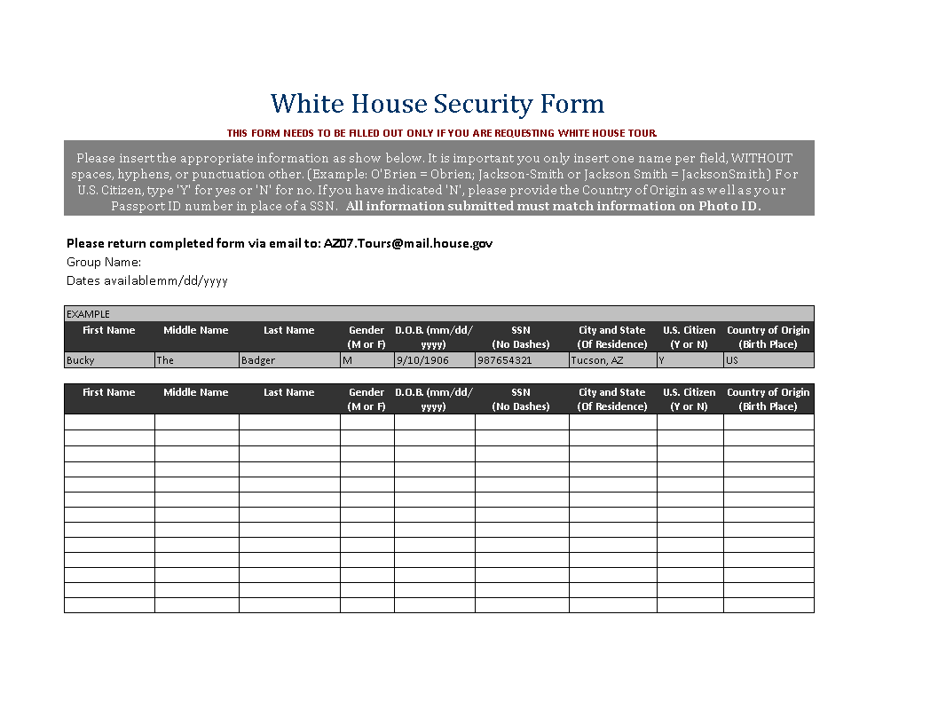 Free House Security Service Order Form | Templates at ...