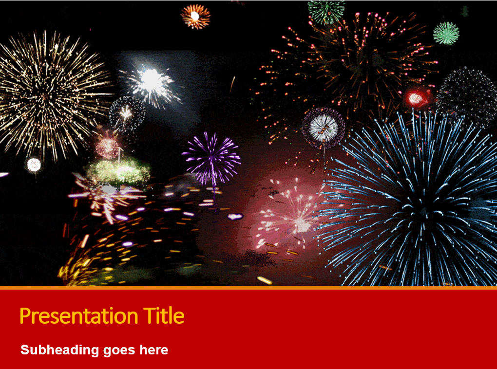 animated fireworks powerpoint chinese new year main image download template