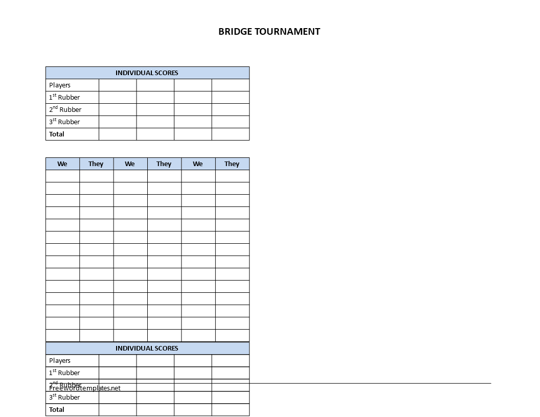 bridge tally template - free bridge score sheet templates at