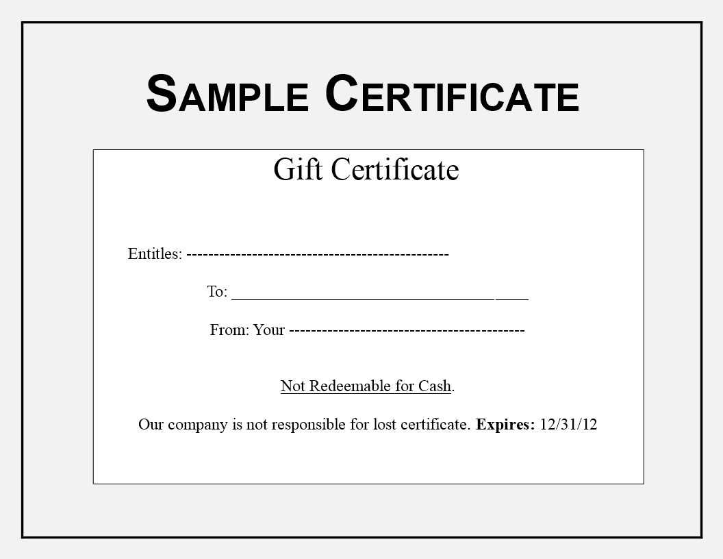 gift certificate sample main image download template