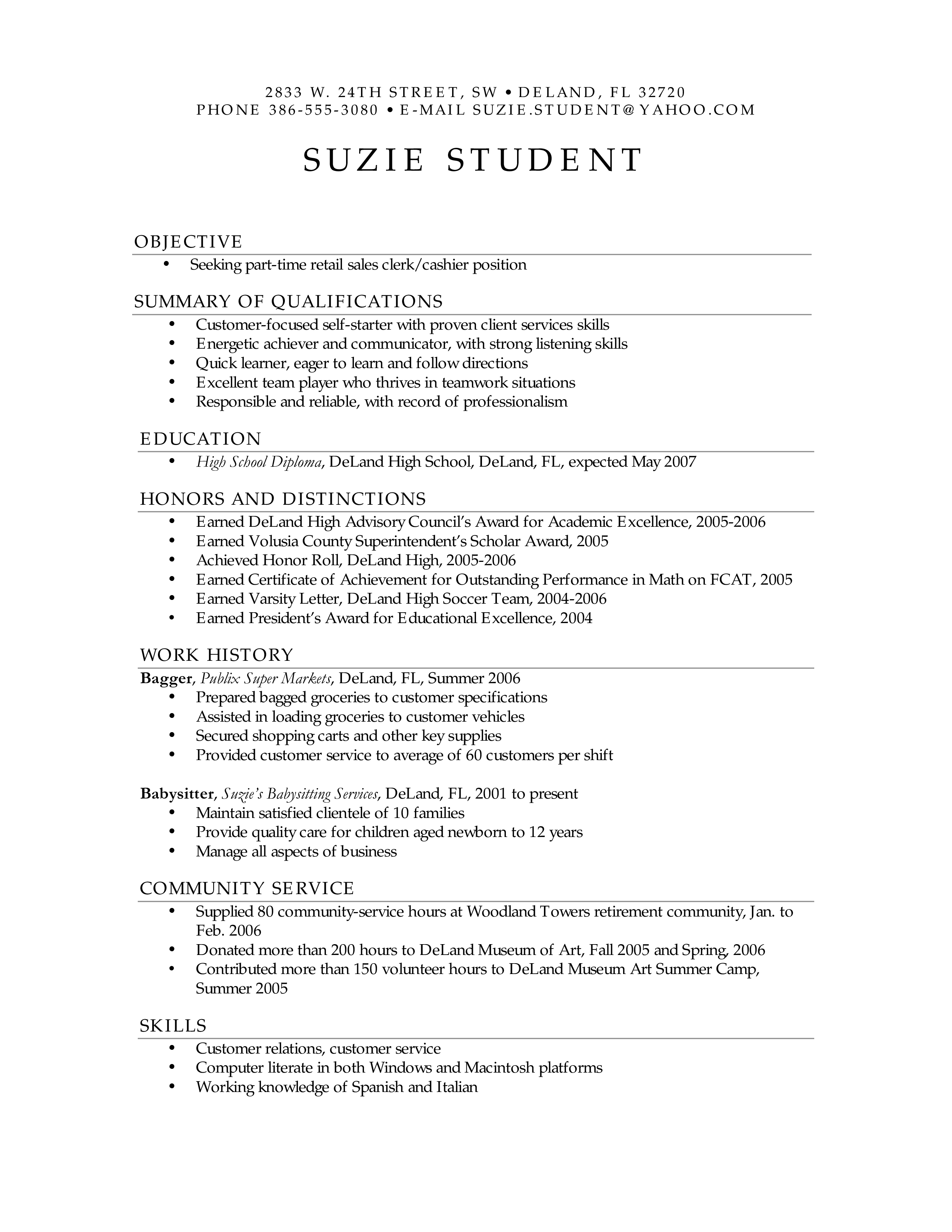 免费Sample Retail Sales Resume | 样本文件在allbusinesstemplates.com