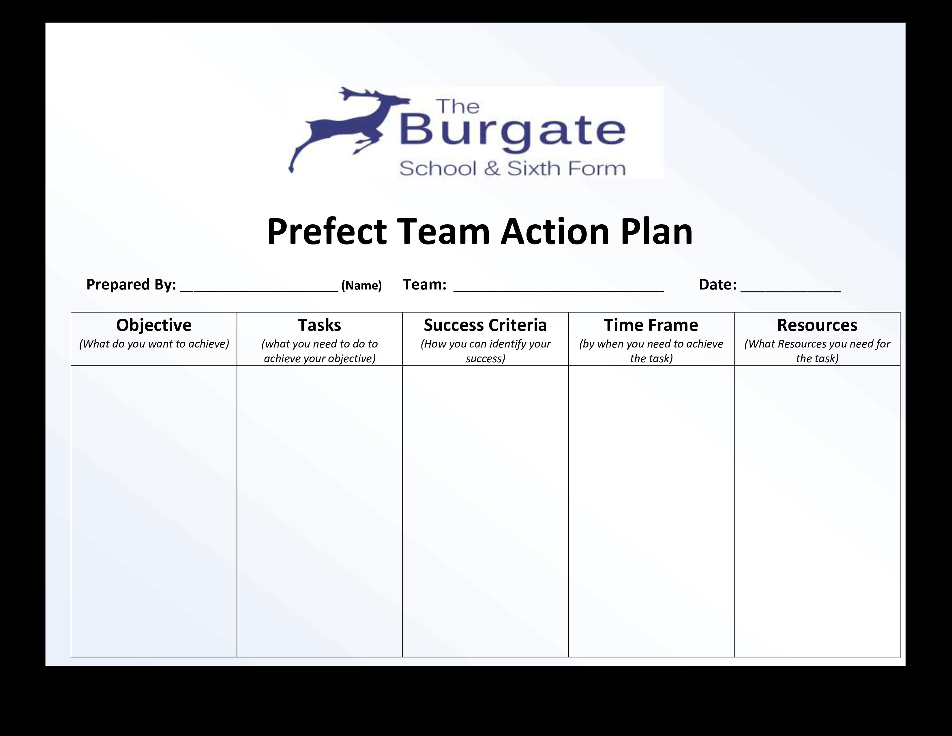 Perfect Team Action Plan Templates At Allbusinesstemplates Com