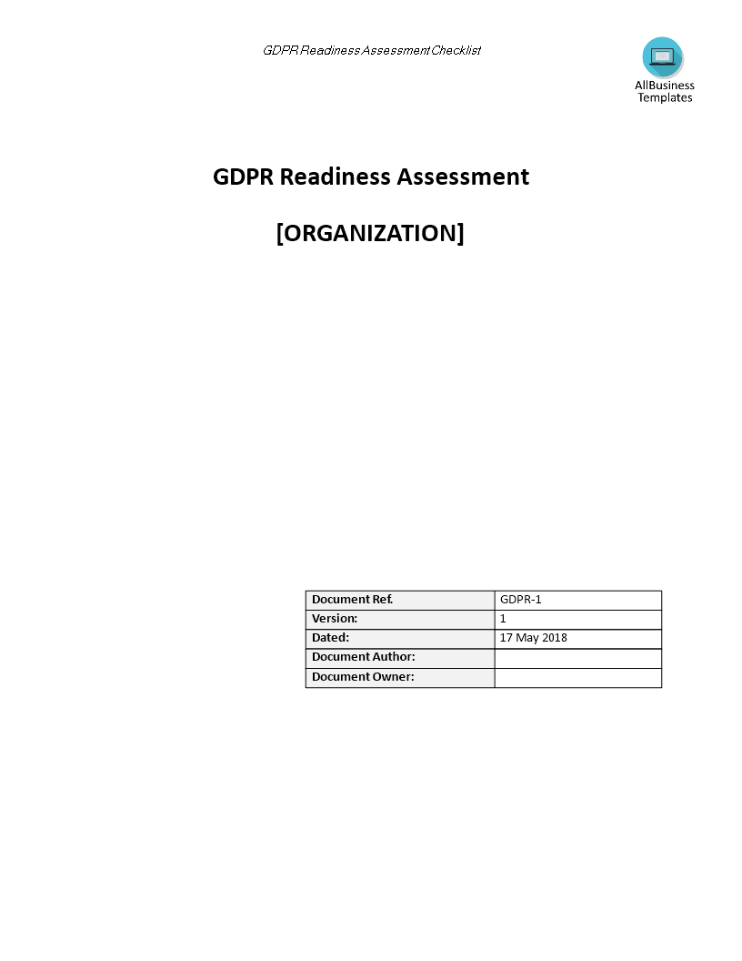 Gdpr Readiness Assessment Checklist Templates At