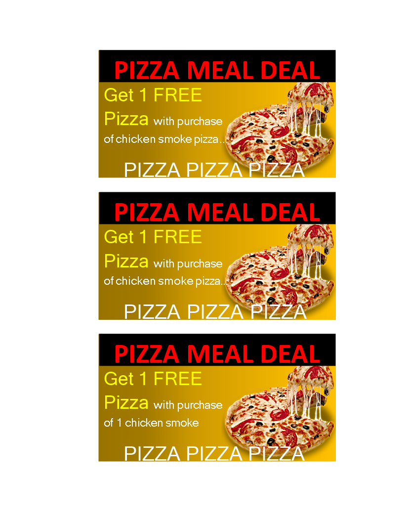 free meal coupon template - free pizza or meal delivery coupon templates at