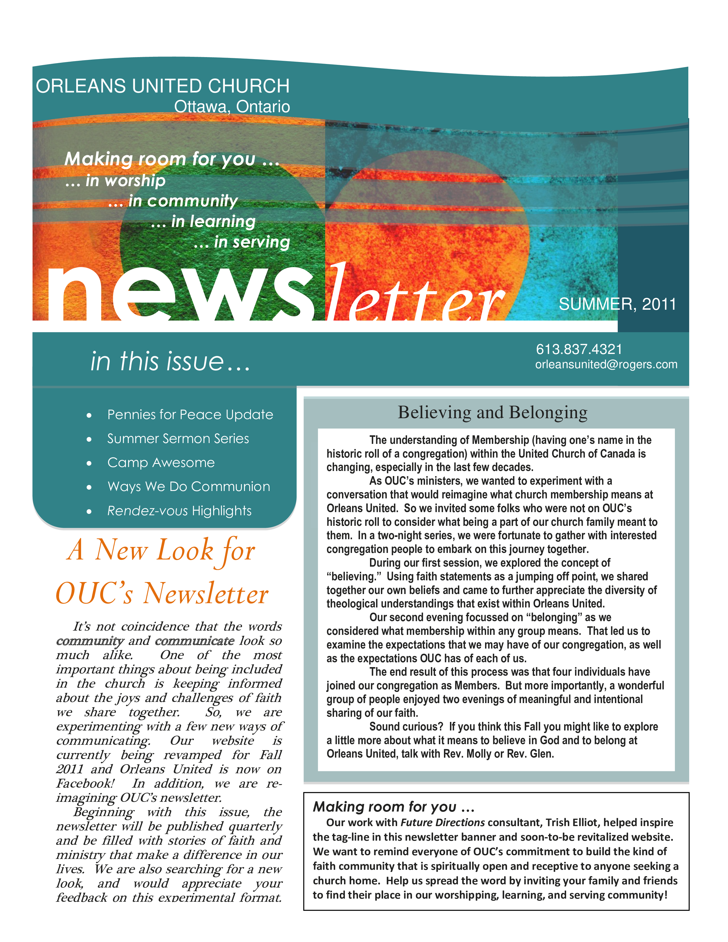 free summer newsletter templates at