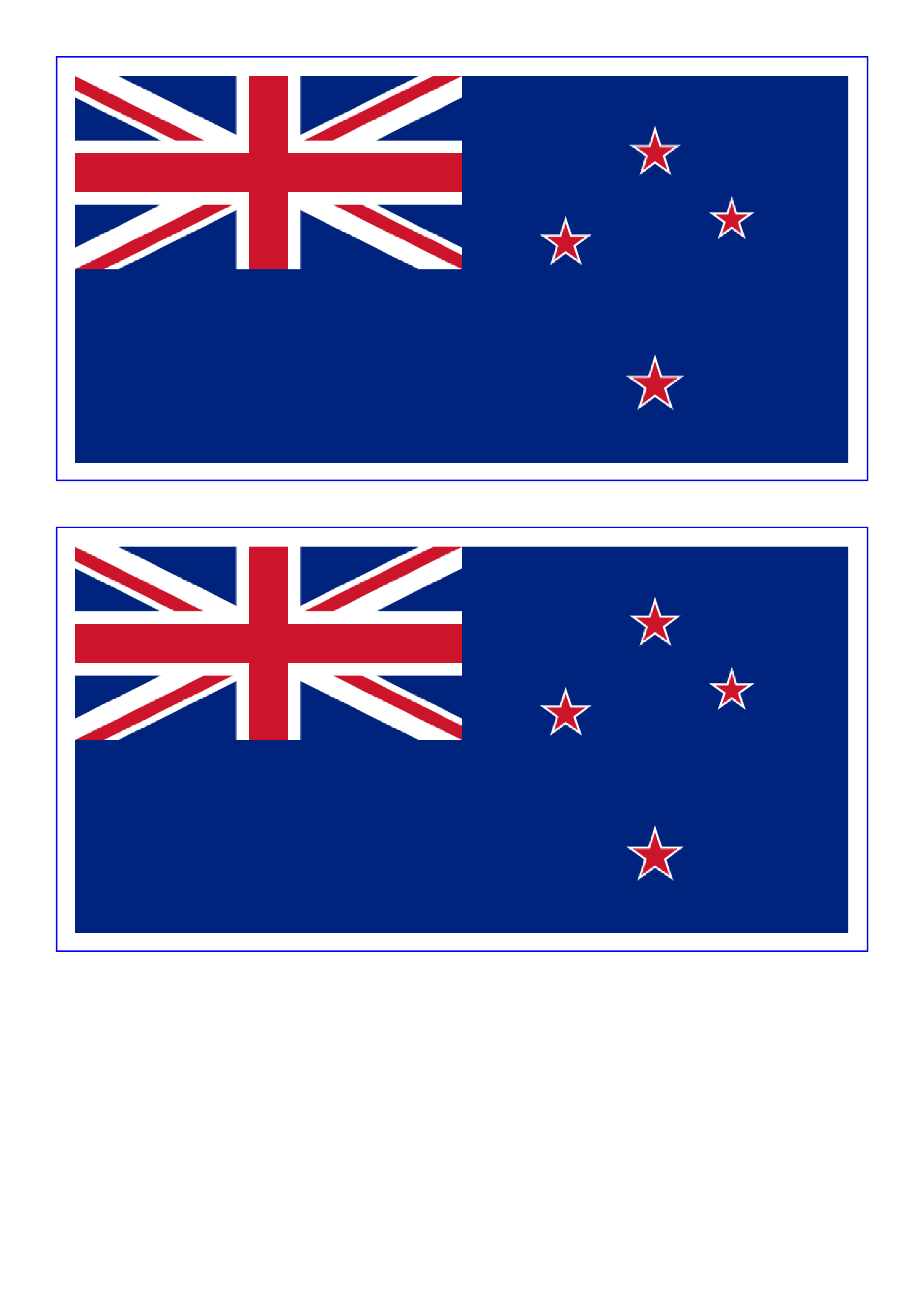 New Zealand Flag Templates At Allbusinesstemplates Com