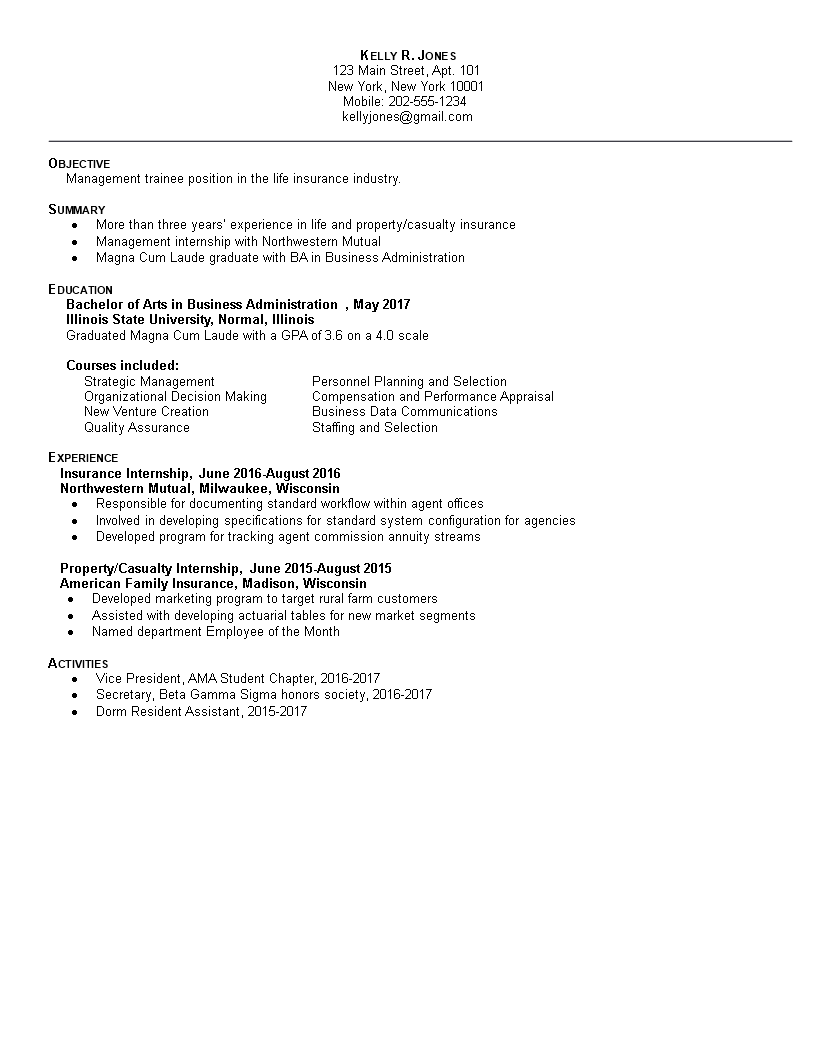 free professional business administration resume | templates at