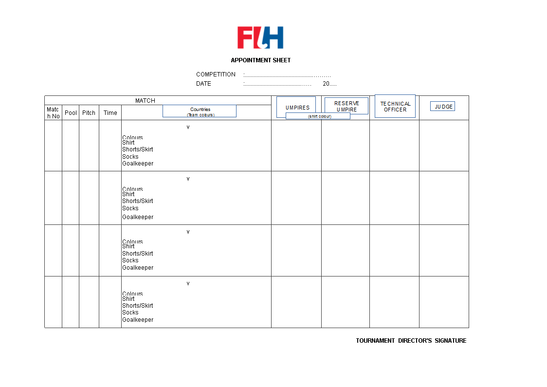 free excel appointment sheet templates at