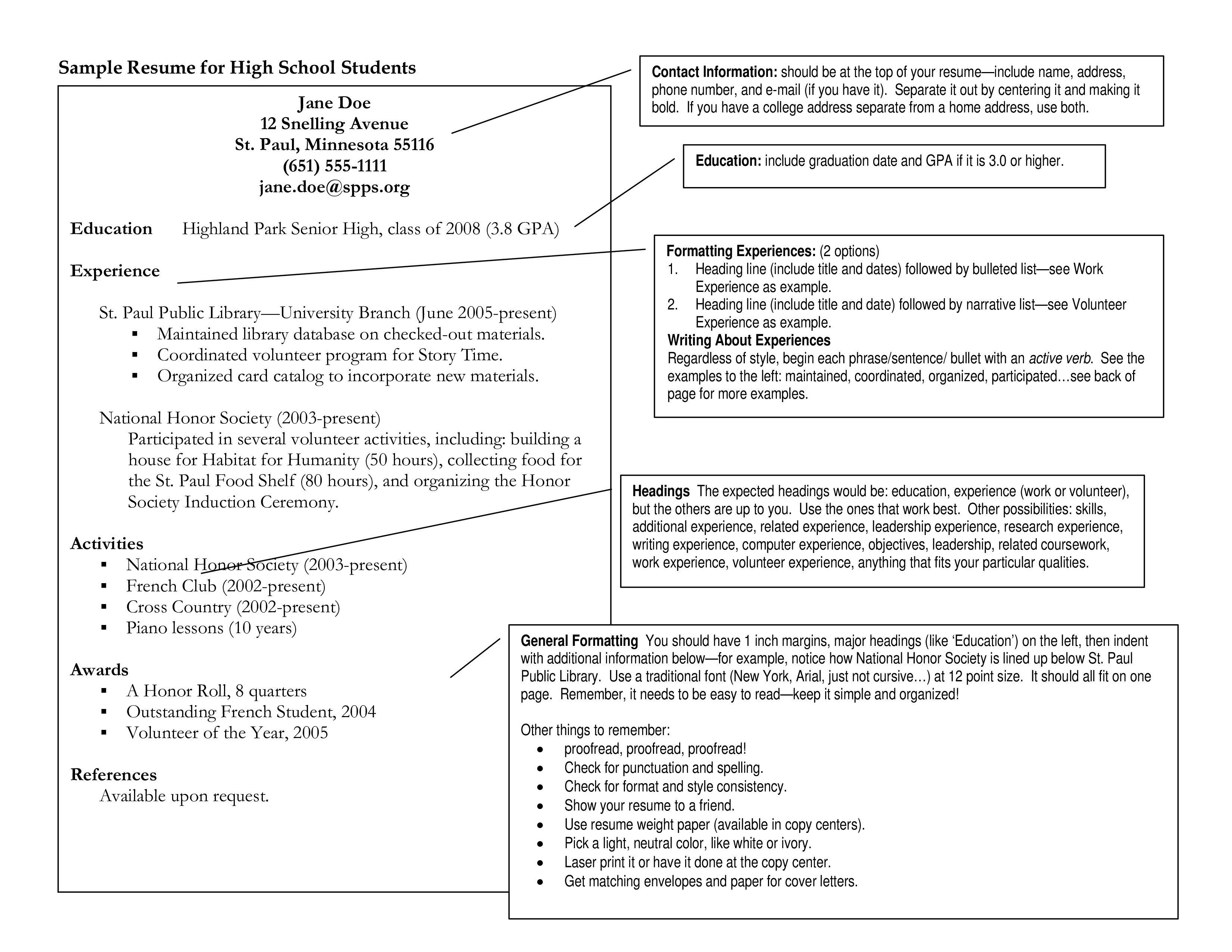 Sample High School Education Resume Templates At