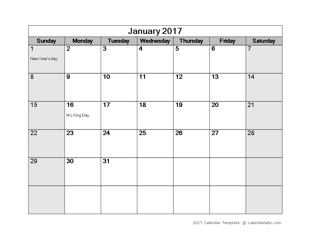 Awesome Monthly Calendar Word Template Main Image