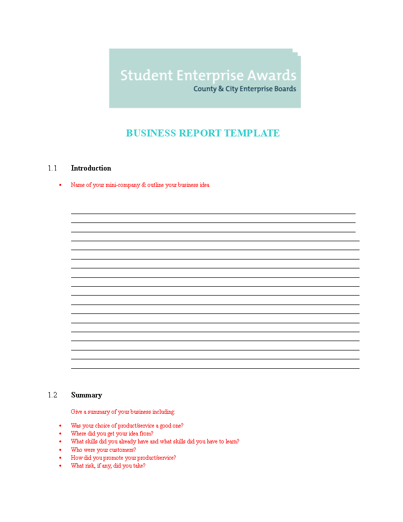 free professional business report word templates at