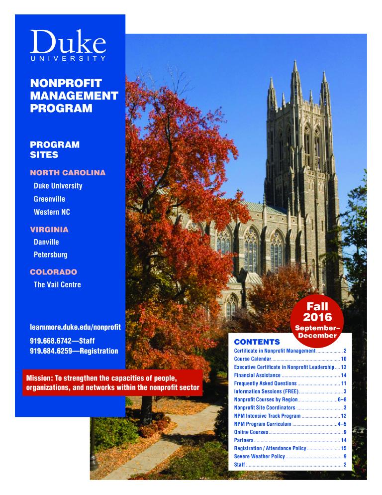 免费Nonprofit Management Executive Certificate | 样本文件在 ...