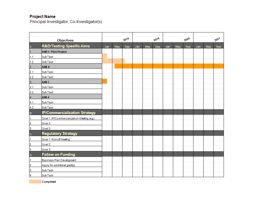 project gantt chart in excel