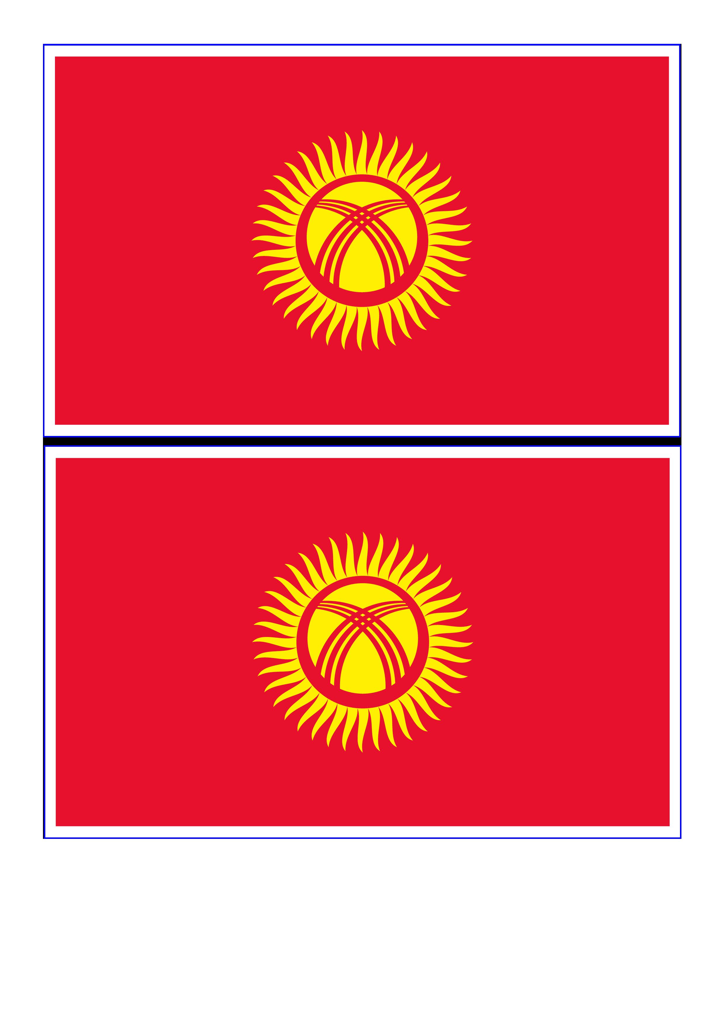 免费kyrgyzstan flag
