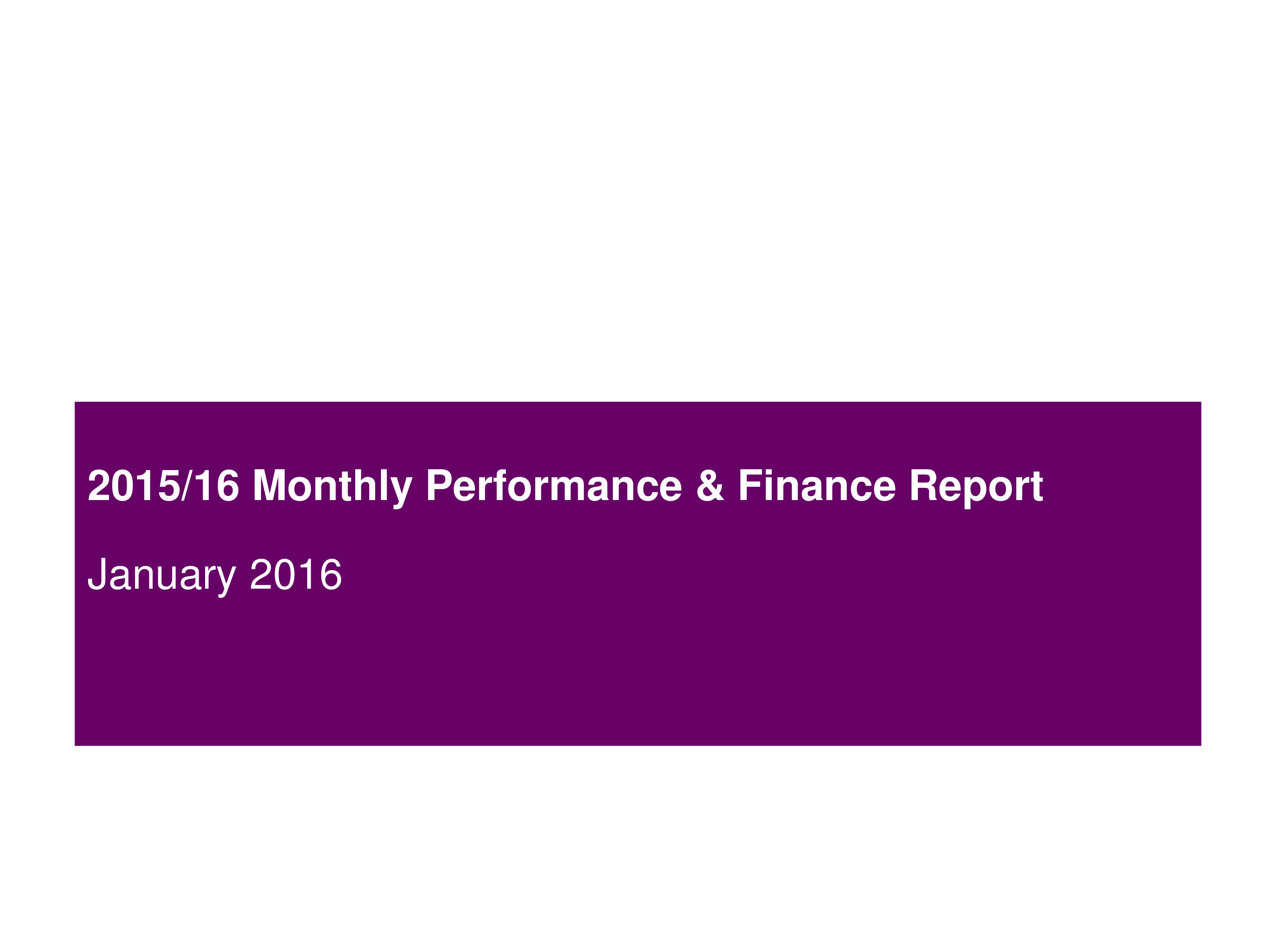 Monthly Performance Report main image