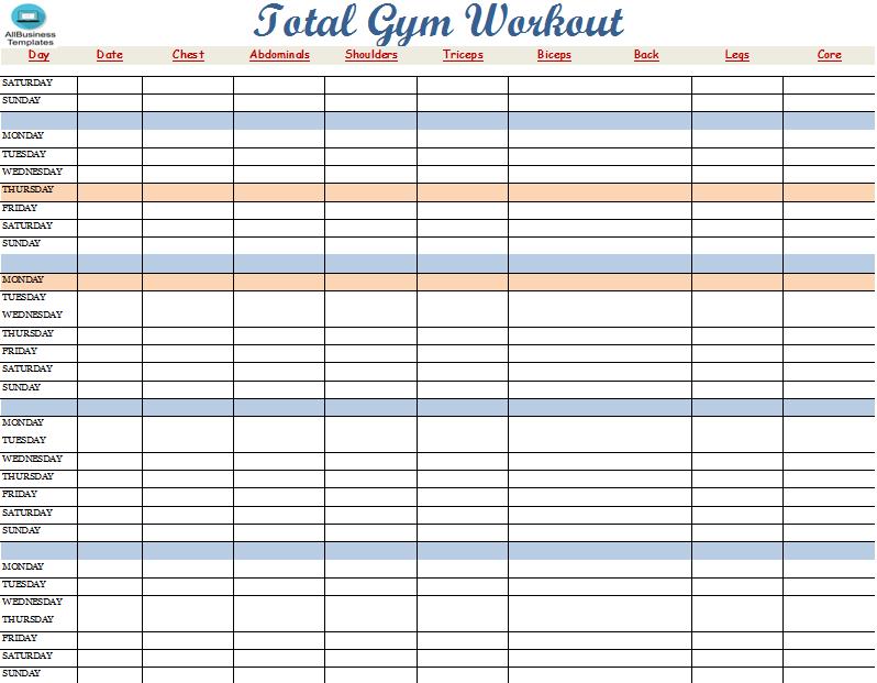 Total Gym Workout Plan Main Image Template