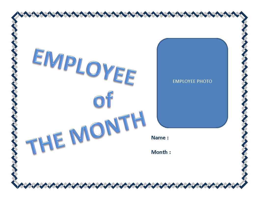 Employee Of The Month Certificate Template Main Image  Free Employee Of The Month Certificate Template