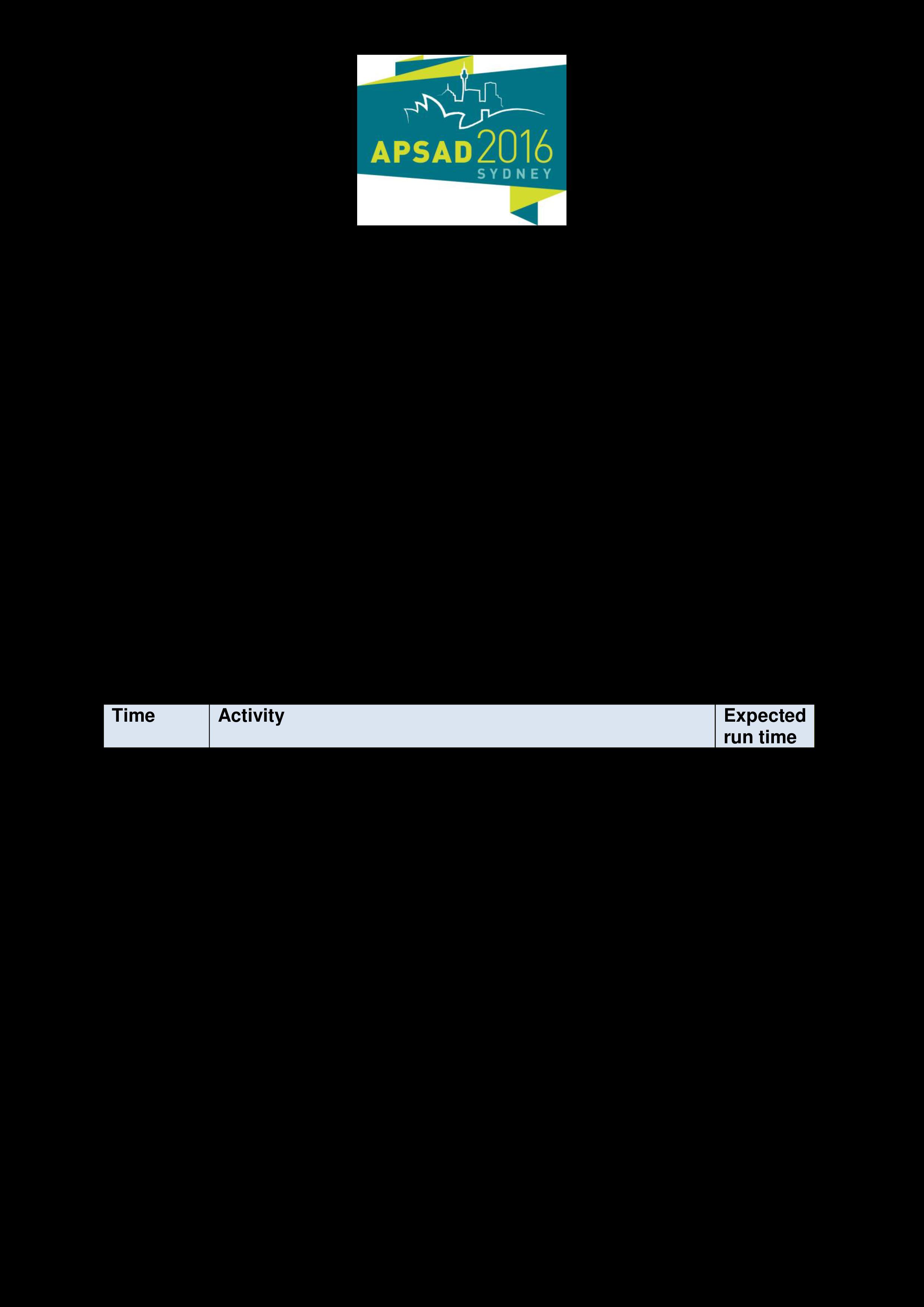 conference run sheet