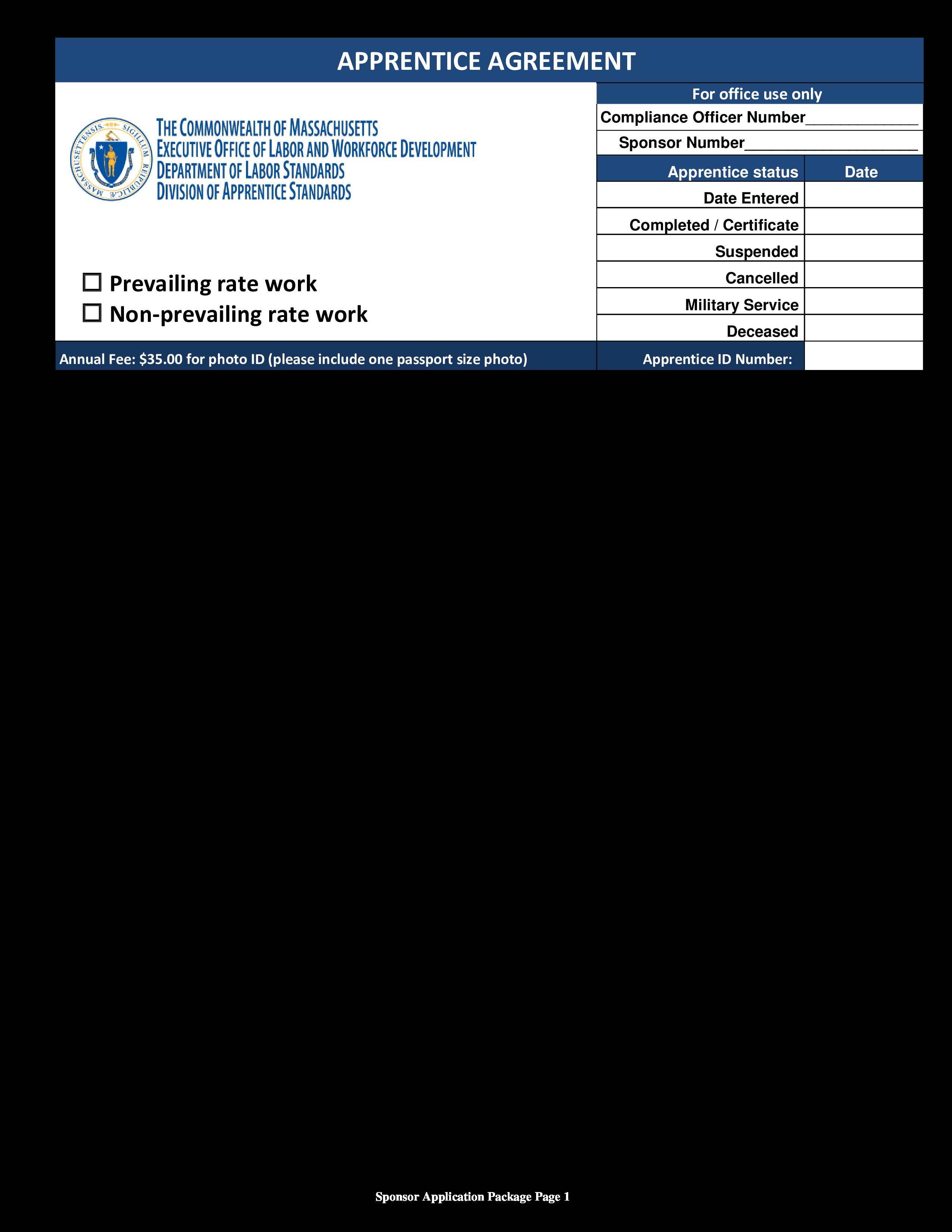 Training Apprenticeship Agreement Form Templates At