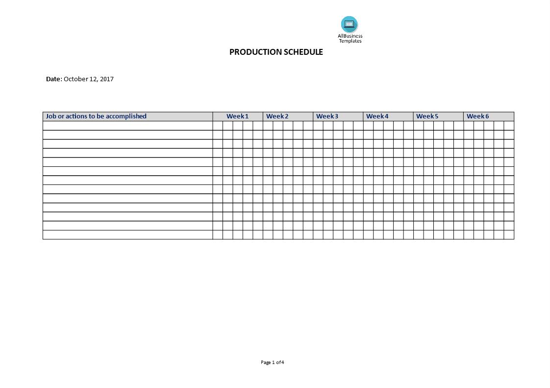 Projectmanagement Production Schedule Templates At