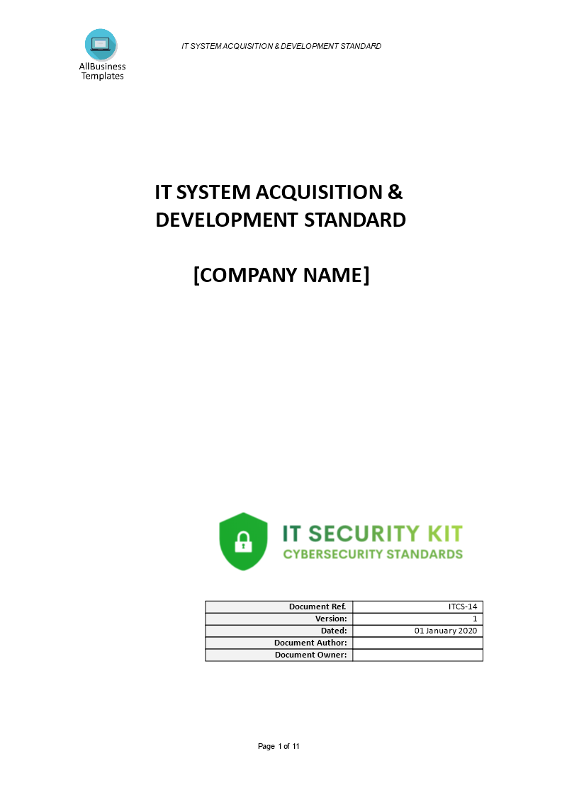 IT System Acquisition & Development main image