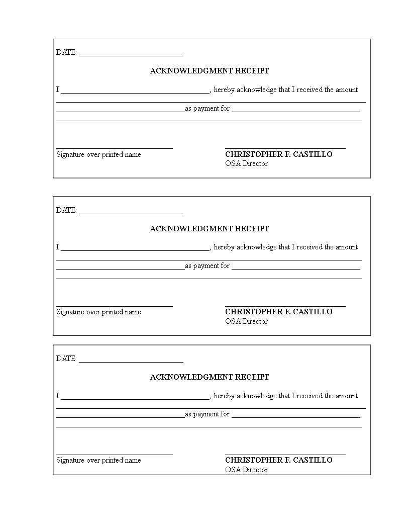 Free Cash Received Receipt Templates At Allbusinesstemplates Com