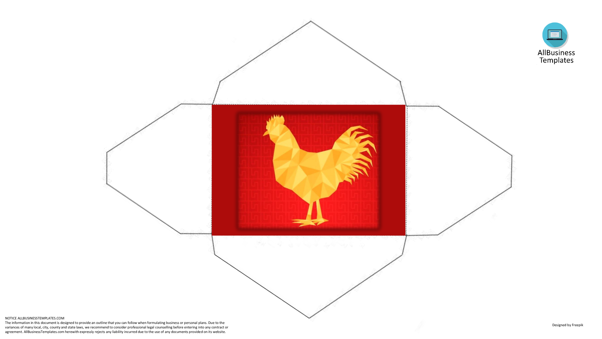 Rooster Hongbao template for Spring festival 2017 main image
