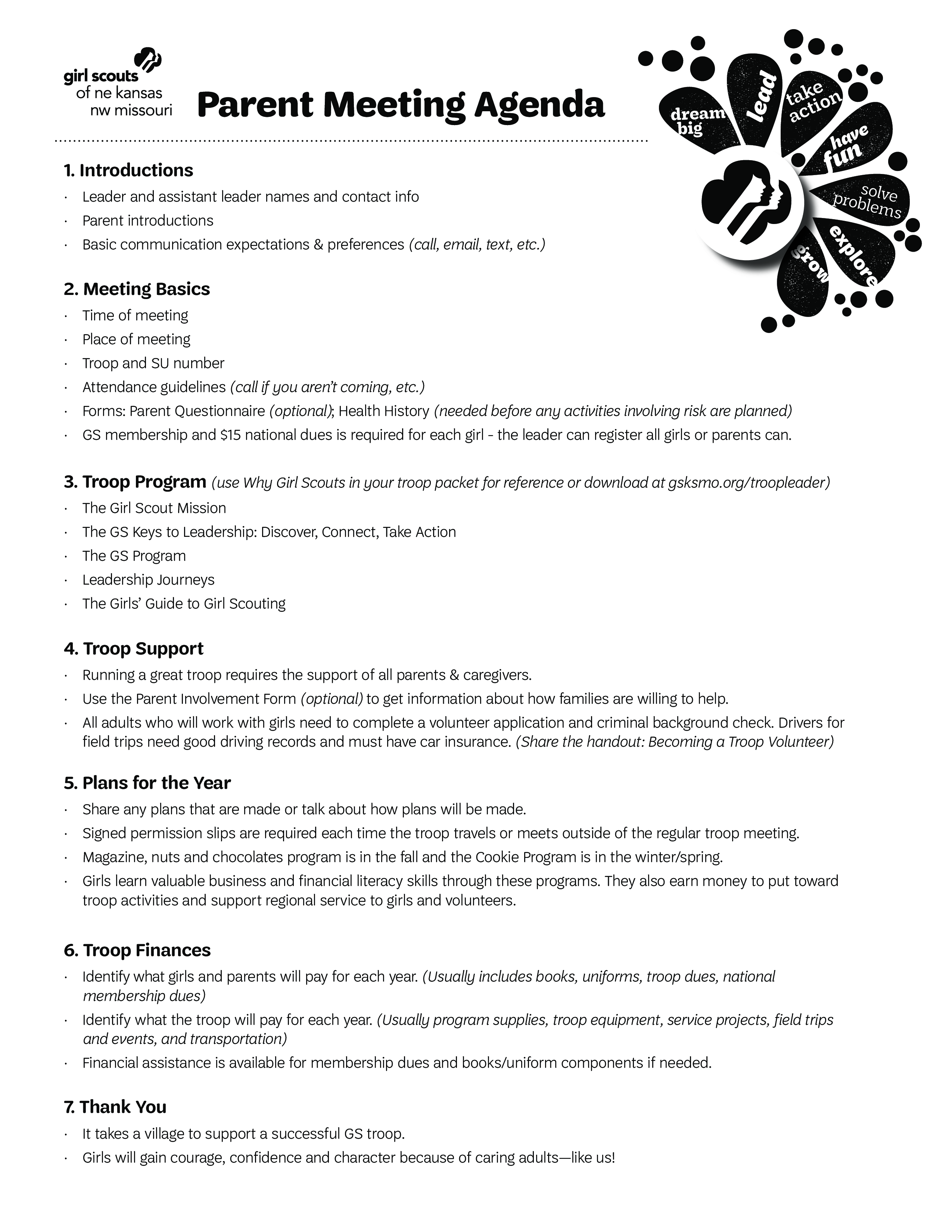 Parent Meeting Agenda Main Image Download Template